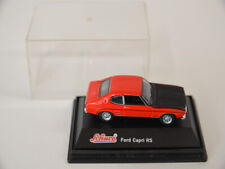34 ) Schuco - Ford Capri RS 2600 Modell 1970-72 Coupe in rot schwarz  1:72