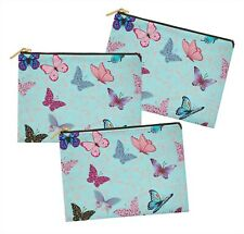 S4Sassy Butterfly Multipurpose Cosmetic Pouch Case Make Up Bag Pack of 3-BT-3B