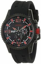 NEW Red Line RL-50031-BB-O1RD Mens Boost Dual Time Red Accented Black Watch 100m