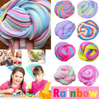 UK Rainbow Fluffy Floam Slime Scented Plasticine Stress Relief Children Toy Gift