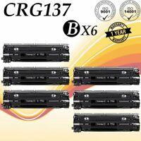 6 Pack Black Laser Toner for Canon 9435B001 CRG137 MF236n MF229dw MF249dw MF232w