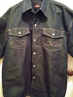 JOHNNY BLAZE DENIM SHIRT IN XL Method Man Hip Hop