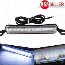 6000K Xenon White 12-SMD LED Bolt-on Car Truck License Plate Light DRL Lamp 12V