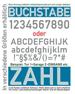 Zahl und/oder Buchstabe 8-24 cm frei wählbar selbstklebend Klebezahl Hausnummer