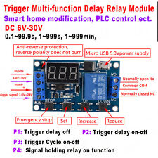 DC 9V-24V Digital LED Trigger Delay Cycle Timer Relay Module +Micro USB Hot xx