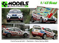 1/43 Decal Ford Focus Wrc 2003 MacHale Manx Rally 2005 no ixo spark hpi