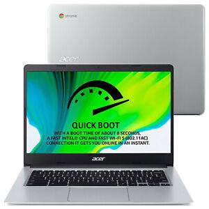 "Acer Chromebook CB314-1HT 14"" Touch Laptop Celeron N4000 4GB 64GB, NX.HKEEK.004"