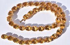 Citrine & Diamond Riviere Necklace ( 80 carats ) 18k