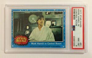 1977 TOPPS STAR WARS TRADING CARD - SERIES 1: BLUE - #61 LUKE SKYWALKER - PSA 8