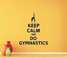 Gymnastics Wall Decal Gym Vinyl Sticker Quote Decor Home Workout Poster 111nnn