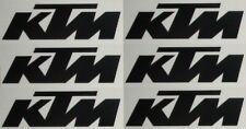 6 KTM Aufkleber, je 3,3 x 1,1 cm Sticker schwarz, weiß, orange frei wählb 1715