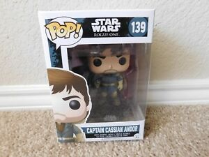 New in box Pop Star Wars Rogue One #139 Captain Cassian Andor vinyl bobble head