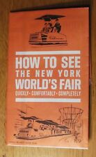 1965 How to See the New York World's Fair Brochure / Map, Greyhound