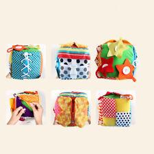 Istruzione Montessori Imparare a vestire Cube Rattle Baby Basic Life Skill