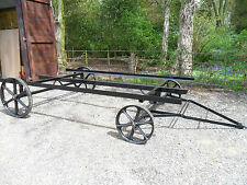 """14'6"""" Shepherds Hut Turntable Chassis, with Cast Iron Wheels"""