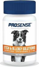 100 Pc Itch & Allergy Fast Relief for Dogs Skin Supplement Chews Tablets 2 Packs