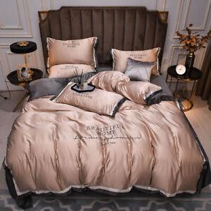 2021 Home Top Washed Silk Bedding Set, Refreshing Bedding, Summer Print