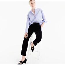 J. Crew NWT Black Velvet Easy Pants Pull-On Crop Pants S 4 $98