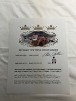 STEVE CAUTHEN SIGNED AUTOGRAPHED 1978 TRIPLE CROWN SHEET RARE AFFIRMED HORSE