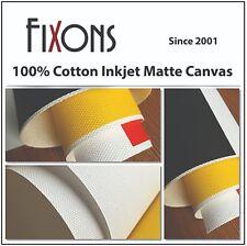 "Cotton Canvas Matte for Epson Printer 17"" x 40' - 1 Roll"