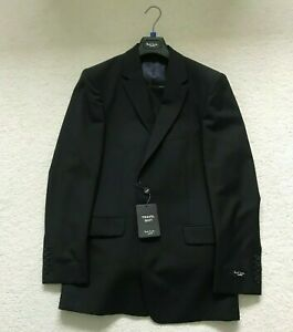 """Paul Smith """"The Willoughby""""  2 button BLACK Single Breasted  TRAVEL Suit"""