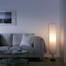 Ikea Holmo Floor Lamp 46-inch White Rice Paper Shade LED Compatible