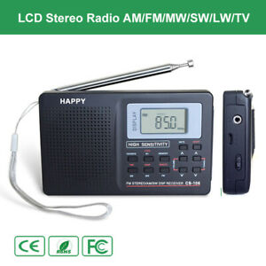 Digital Portable Stereo Radio FM LW AM TV SW Light Lamp Music Receiver Antenna