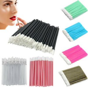 Women Disposable Lip Brush Gloss Lipstick Wands Applicator Makeup Brushes Tool