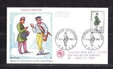 enveloppe 1er jour   journée du timbre  Paris   voyagée   1967