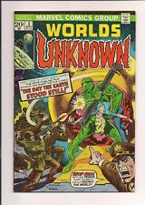Worlds Unknown #3 (1973) very fine condition comic Marvel Comics sh3