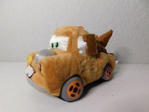 "Disney Pixar Cars Tow Mater Tow Truck 7"" Long Plush Stuffed Toy Brown"
