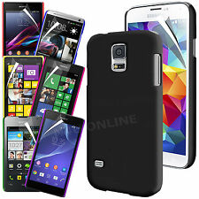 Hard Back Skin Case Cover & Screen Protector for Various Mobile Phones