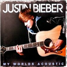 MY WORLDS ACOUSTIC by JUSTIN BIEBER (CD, 2010 - USA - Island) 11 Songs, Good!!!