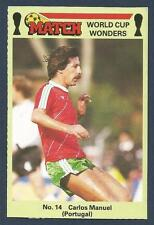 MATCH MAGAZINE-WORLD CUP WONDERS 1986- #14-PORTUGAL-CARLOS MANUEL