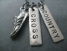 RUN CROSS COUNTRY~18inch NECKLACE~RUNNING JEWELRY