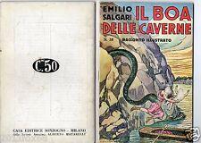 emilio salgari racconti illustrati racconti avventure # 38 rare 1° edition 1936