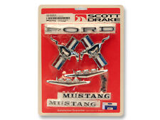 Ford Mustang Badge Emblem Kit 1965 1966 65 66 289 Coupe Convertible Scott Drake