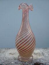 Vase cristal décor filigrané spiralé Clichy 19ème