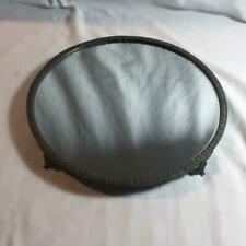 New ListingVintage Footed 12� Circular Ornate Vanity Mirror Tray Perfume Antiqued Silver