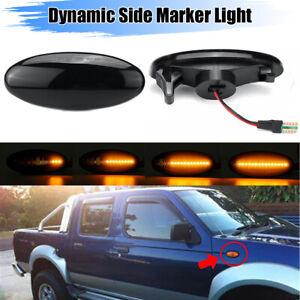 Dynamic Side Marker Turn Signal Light For Nissan Navara D22 NP300 Frontier 98-05