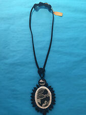 Dori Csengeri Necklace Black faceted beads with White Lace