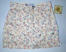Older Girl Cute Caribbean Joe Floral Print 4 Pocket Summer Fun Skort Shorts Sz16