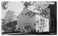 1930s Milford New Jersey Volunteer Fire Hall Brown Dexter postcard 2939