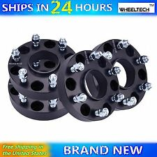 4 Pcs 6x5.5 Black fit Chevy Silverado 1500 Hub Centirc 1.25 inch Wheel Spacers