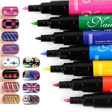 Women 12 Colors 3D Finger Nail Paint Pen UV Gel Acrylic Nail Art Polish Set