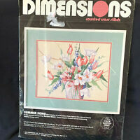 Dimensions Summer Song Cross Stitch Barbars Mock Kit 1988