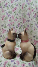 NEW SIAMESE CAT SALT & PEPPER SET