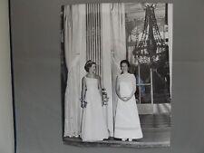 "10"" x 8"" PRESS PHOTO - 1969 - PRINCESS ANNE & ALEXANDRA AT BRITISH EMBASSY PARIS"