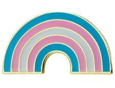 """Transgender Rainbow Lapel Pin 1"""" x 1/2"""" LGBTQ Pride Tie Tack Hat Pin"""