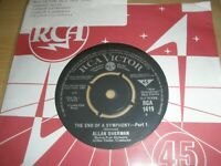 """Allan Sherman The End Of A Symphony Parts 1 & 2 7"""" Single 1964 RCA 1419 Victor"""